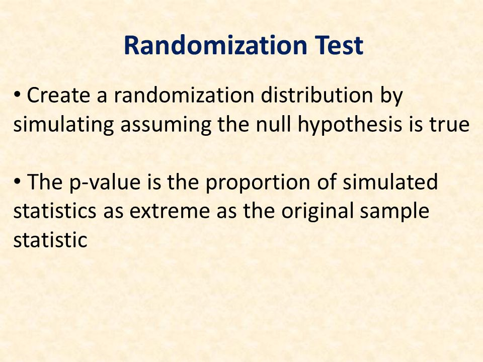 How do we create randomization distributions for other parameters.