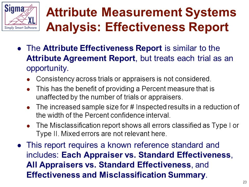 24 Kappa can vary from -1 to +1, with +1 implying complete consistency or perfect agreement between assessors, zero implying no more consistency between assessors than would be expected by chance and -1 implying perfect disagreement.