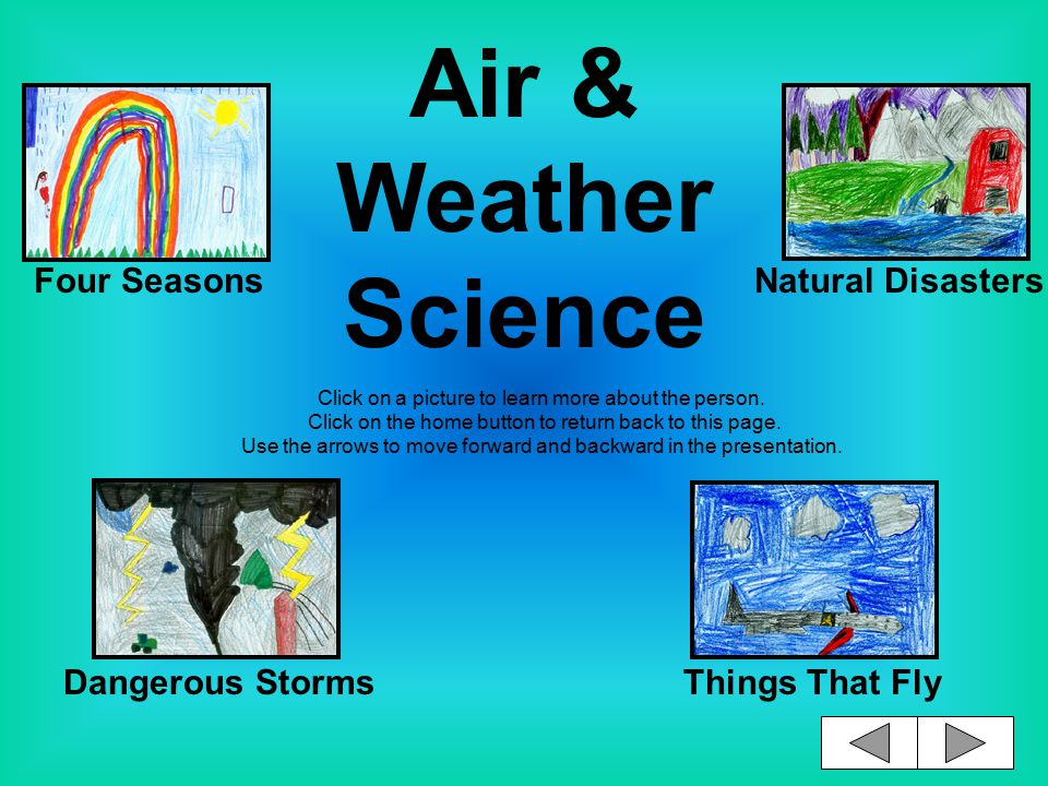 Air & Weather Science Click on a picture to learn more about the person.