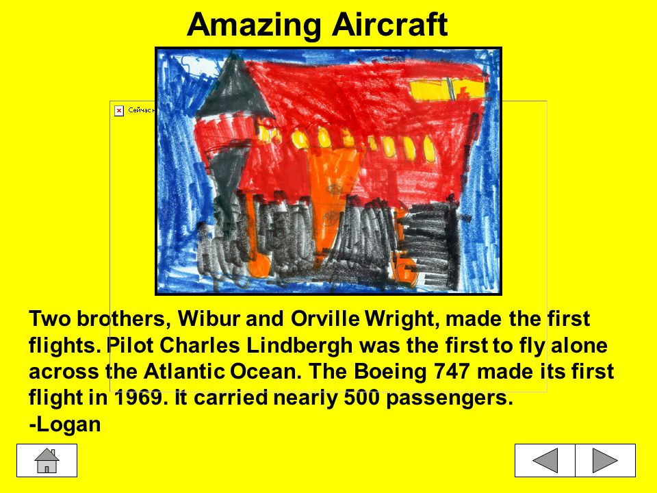 Two brothers, Wibur and Orville Wright, made the first flights.