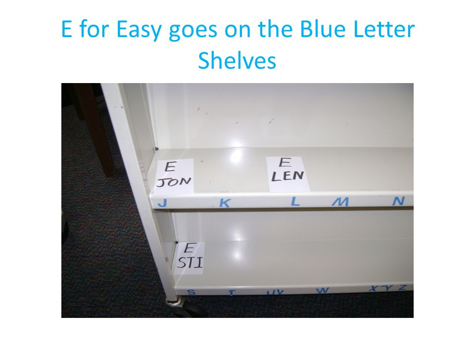 And FIC for Fiction goes over the red letter shelves.