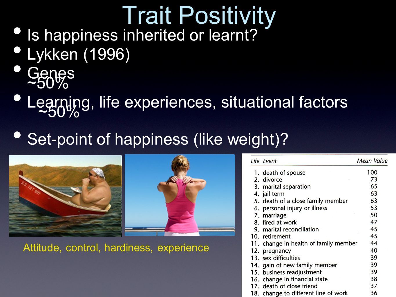 What are the psychological and physical effects of positive mood/ happiness?
