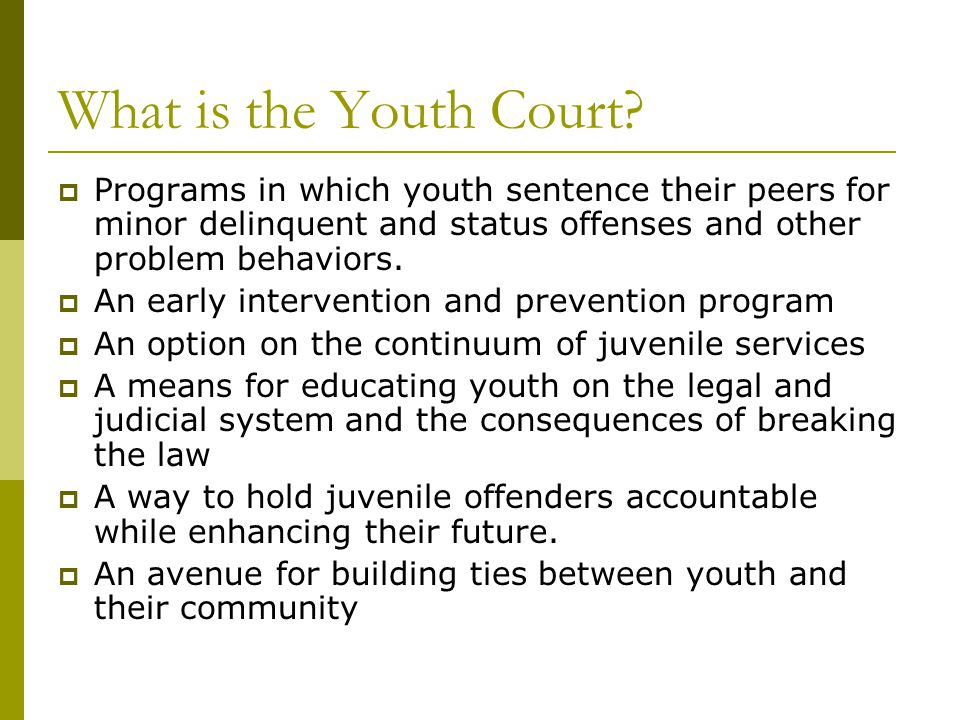 How does Youth Court Operate.