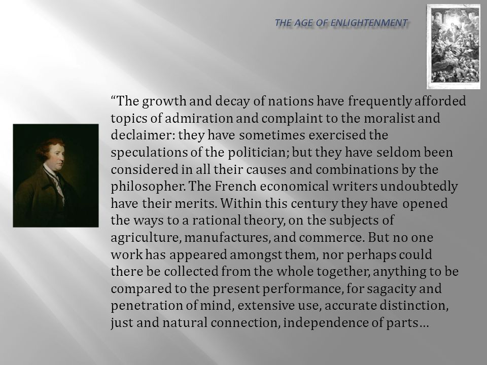 It is a complete analysis of society, beginning with the first rudiments of the simplest manual labor, and rising by an easy natural gradation to the highest attainments of mental powers.
