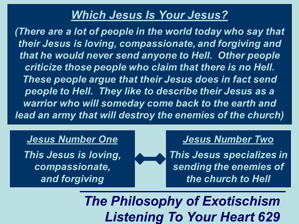 The Philosophy of Exotischism Listening To Your Heart 630 Thomas , continued Kala, people such as Jeffrey sometimes forget that getting rid of the myth of God does not get rid of the spiritual power that is harnessed by the people who profess to believe in God.