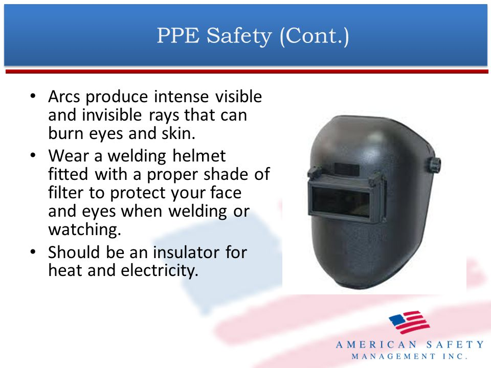 PPE Safety (Cont.)