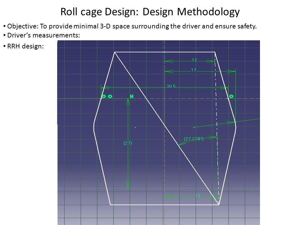 Roll cage Design: Design Methodology RHO, SIM, FBM design :