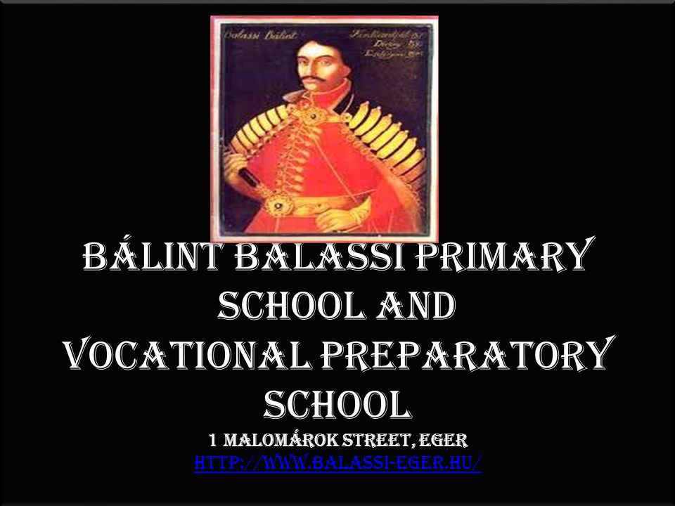 Bálint Balassi He was born on 20th October, 1554, in Zólyom, Hungary.