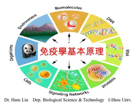 免疫學基本原理 Dr. Hans Liu Dep. Biological Science & Technology I-Shou Univ.