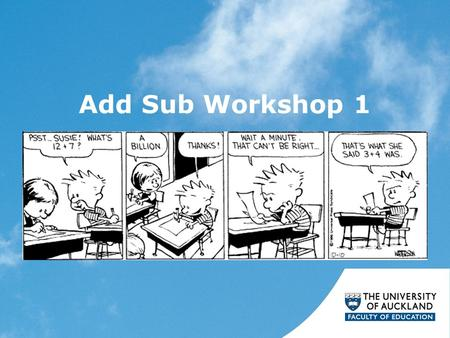 Add Sub Workshop 1.