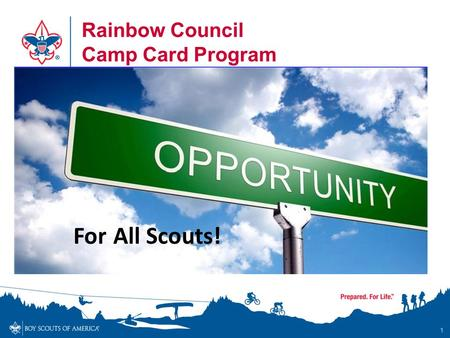 Rainbow Council Camp Card Program 1 For All Scouts!