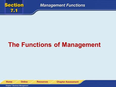 The Functions of Management. Introduction to Management If a firm has employees, then some type of management is necessary. management the process or.