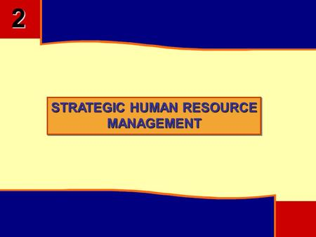 STRATEGIC HUMAN RESOURCE MANAGEMENT 2. 2 OBJECTIVES Understand the Scope of SHRM Factors Influencing SHRM Linking of Corporate Strategies to HR Functions.