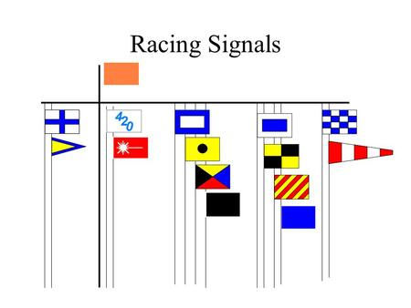 Racing Signals On Station Not a Racing Signal Defined in Sailing Instructions Normally indicates the end of the Start / Finish line on the Committee.