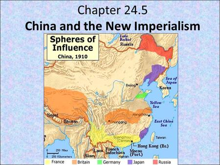 Chapter 24.5 China and the New Imperialism. Focus Q: April 1 What are you going to be when you grow up? Where will you get the training? What skills/abilities.