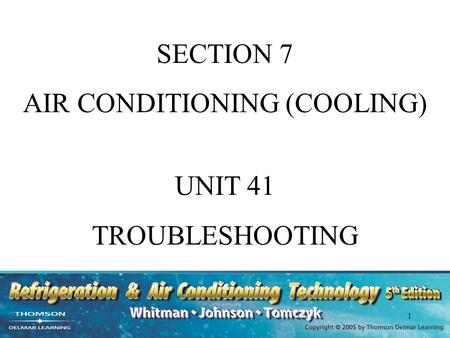 AIR CONDITIONING (COOLING)