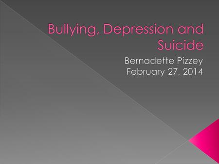 The purpose of this presentation is to help teachers, parents, students and social workers, work together in regards to those who are experiencing bullying,