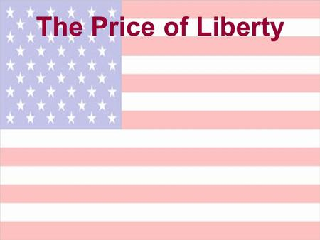 The Price of Liberty. You will know the truth, and the truth will set you free. …So if the Son sets you free, you will be free indeed. (John 8:32, 36)