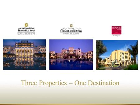 Three Properties – One Destination. Hotel Location Ten minutes from the city's international airport Five minutes from the golf course and the Abu Dhabi.