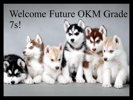 Welcome Future OKM Grade 7s!. How do I get involved at OKM? Clubs Athletics Fine Arts.