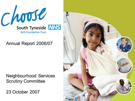 Annual Report 2006/07 Neighbourhood Services Scrutiny Committee 23 October 2007.