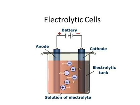 Electrolytic Cells. An electrolytic cell is an electrochemical cell that undergoes a redox reaction when electrical energy is applied. It is most often.