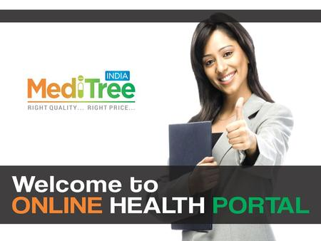 Welcome To Online Health Portal - Medi Tree India