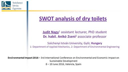 SWOT analysis of dry toilets