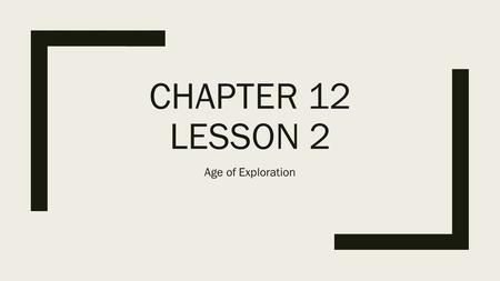CHAPTER 12 LESSON 2 Age of Exploration. The Spanish Conquer Mexico ■Inspired by Christopher Columbus ■Poor Spanish Nobles become conquistadors ■19 year.