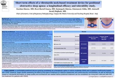 Short term effects of a vibrotactile neck-based treatment device for positional obstructive sleep apnea: a longitudinal efficacy and tolerability study.
