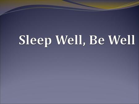 Insomnia Treatment New habits Cognitive interventions Stress management.