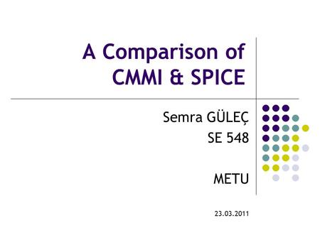 A Comparison of CMMI & SPICE