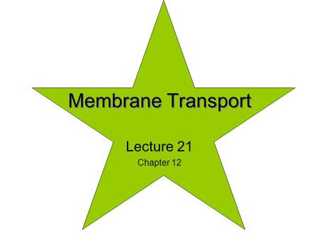Membrane Transport Lecture 21 Chapter 12. 12_01_transport_prot.jpg If one makes a pure lipid membrane; 1)It would be biologically inert 2)Many molecules.