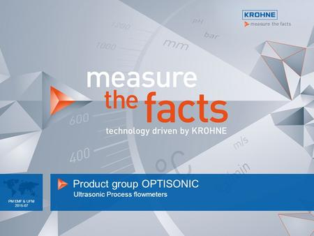 Product group OPTISONIC Ultrasonic Process flowmeters PM EMF & UFM 2015-07.