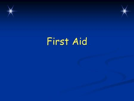 First Aid. Lesson Overview  Preparing to help  What is first aid?  How to recognize and treat common emergencies  When minutes count: severe emergencies.