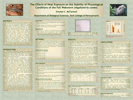 ABSTRACT: In this study the effects of acute heat exposure on the ability of the fall webworm ( Hyphantria cunea) to maintain stable physiological conditions—well-being—