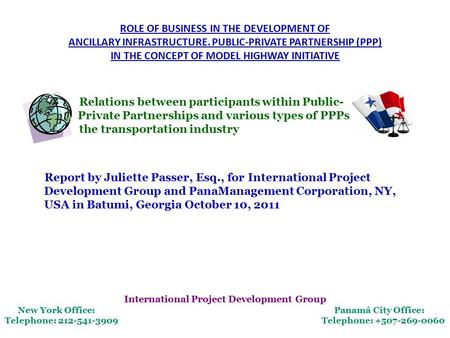 ROLE OF BUSINESS IN THE DEVELOPMENT OF ANCILLARY INFRASTRUCTURE. PUBLIC-PRIVATE PARTNERSHIP (PPP) IN THE CONCEPT OF MODEL HIGHWAY INITIATIVE Relations.