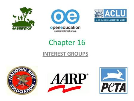 Chapter 16 INTEREST GROUPS. Short Answers What do interest groups do? How did American interests groups develop? What makes interest groups successful.