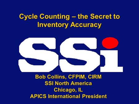 Cycle Counting – the Secret to Inventory Accuracy
