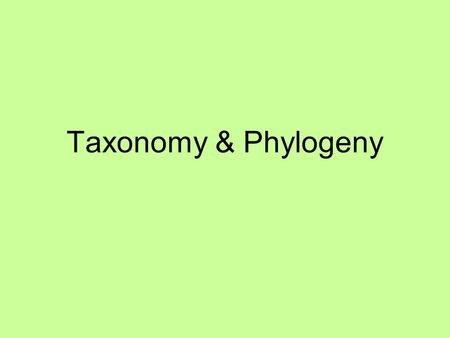 Taxonomy & Phylogeny. B-5.6 Summarize ways that scientists use data from a variety of sources to investigate and critically analyze aspects of evolutionary.