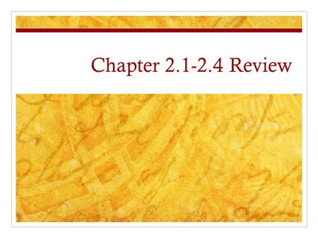 Chapter 2.1-2.4 Review. Chapter 2.2 According to theory, where did all humans originate? Africa.