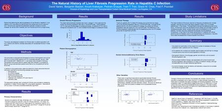 The Natural History of Liver Fibrosis Progression Rate in Hepatitis C Infection David Yamini, Benjamin Basseri, Anush Arakelyan, Pedram Enayati, Tram T.