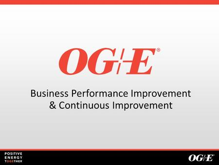 Business Performance Improvement & Continuous Improvement.