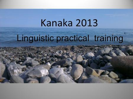 Kanaka 2013 Linguistic practical training. Railway station and waiting for the bus.