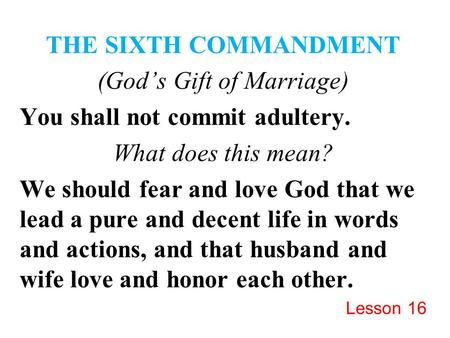 (God's Gift of Marriage)