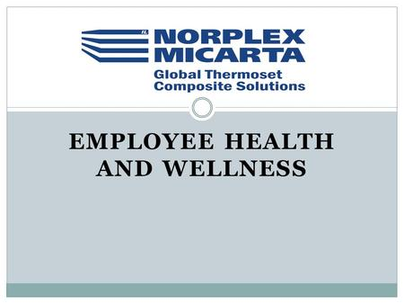 EMPLOYEE HEALTH AND WELLNESS. Who We Are 178 Employees 38 Salaried Employees (33 in Postville, 3 sales, 2 China) 140 hourly employees 3 shift operation.