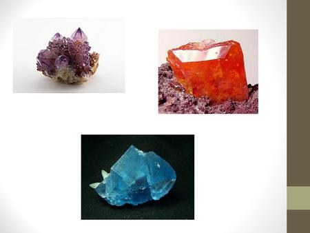 Minerals Mineral Facts There are about 3000 known minerals on earth. All rocks are made up of 2 or more of these minerals. Minerals are not rocks! Silicon.
