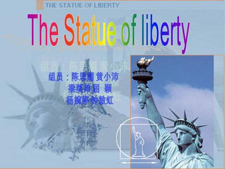The Statue of Liberty like the French in 1876 at the United States presented to the 100th anniversary of the independence of gifts, located in the United.