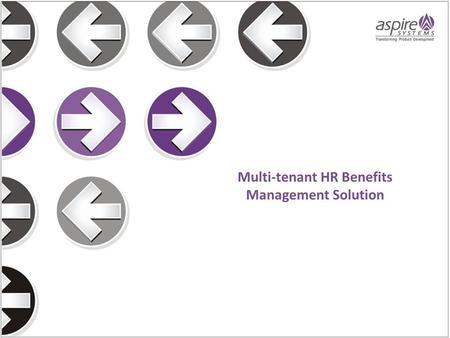 Multi-tenant HR Benefits Management Solution.  Headquartered in US, our customer is a global service provider of HR and Benefits Management services.