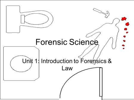 Forensic Science Unit 1: Introduction to Forensics & Law.